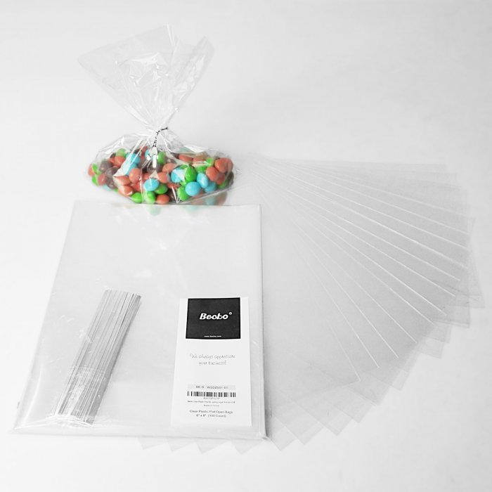 6x8 Inch Clear Cello Bags 100 Packs
