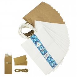Kraft Paper Gift Bags for Shopping Merchandise Party Mix Color
