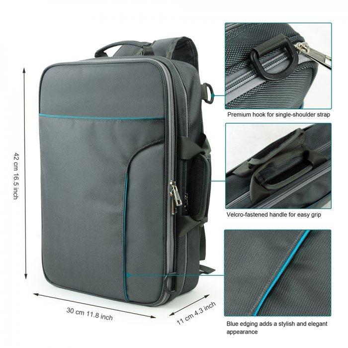 Becko 3 In 1 Padded Laptop Backpack Single-shoulder Carrying Bag ...