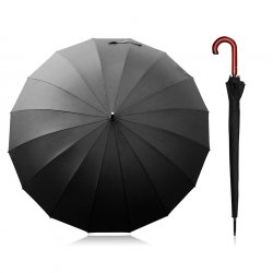 "47"" Long Wooden Bent Handle Umbrella"